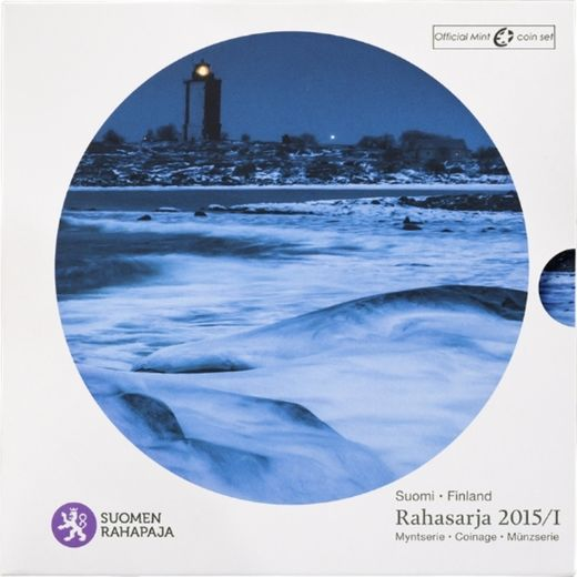 Finland coin set 2015 I ( BU ) Finland´s lighthouses