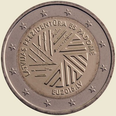 Latvia 2 euro 2015 EU - precidency ( UNC )