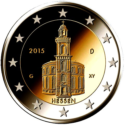 Germany 2 euro 2015 Hessen St paul church ( UNC )