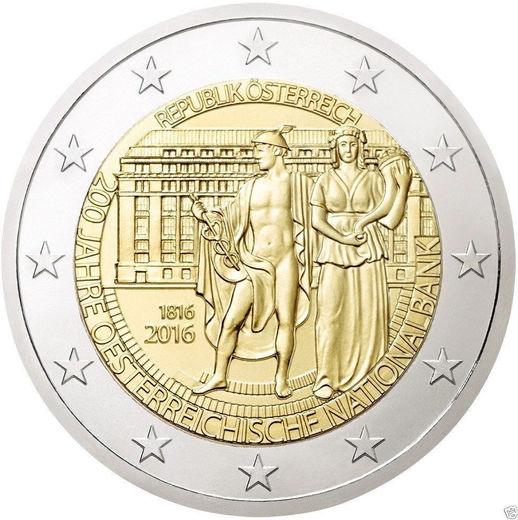 Austria 2 euro 2016 The National Bank 200 Years ( UNC )