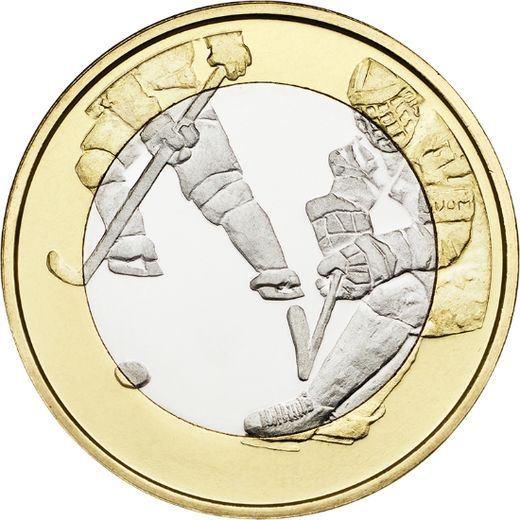 Finland 5 euro 2016 Sports Coins –  Ice Hockey ( UNC )