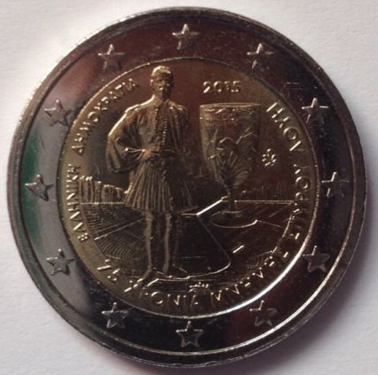 Greece 2 euro 2015 Spyridon ( UNC )