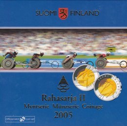 Finland Coinset  2005 II With 5 euro cc 2005 ( BU )