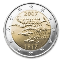 2 euro 2007cc Finland Independence 90 years ( UNC )