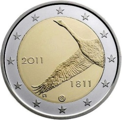 Finland 2 euro 2011 FINLANDS BANK 200 years ( UNC )
