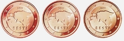 Estonia 2011  1c -2€ ( 3,88€ ) Loose coins serie from roll ( UNC )