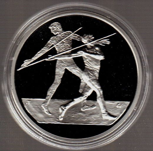 Greece 10 Euro 2003 KM-193 ( PROOF ) Javelin