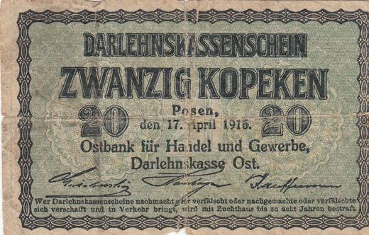 Lithuania 20 Kopeken 1916 ( P ) WW I