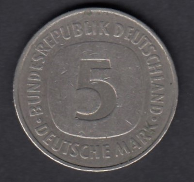 Germany  5 Mark 1975 J KM-140.1 ( VF )