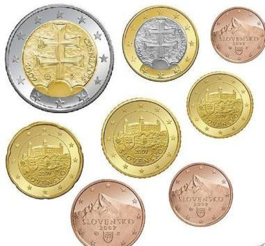 Slovakia 2009 1 cent - 2 euro Loose coins ( UNC )