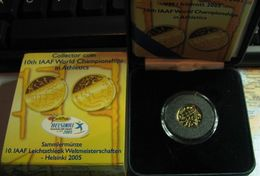 20 euro 2005 KM#121 ( 00 PROOF ) World championships in athletics Orig box + certificate
