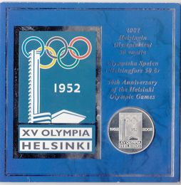 Finland Medal 2002 50th Anniversary of the Helsinki Olympic games ( BU ) In Blister