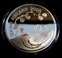 10 euro 2005 60 years of peace ( PROOF ) Originalt box with sertificat