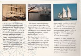 Copy of Åland Cutty Sark Tall Ship's Races 2000 folder, jossa pronssinen, hopeinen ja kullattu laivamitali sekä pinssi