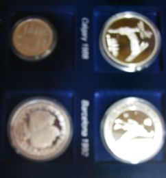 Olympic silver coin collection 1952-2002 ( Inc 20 different olympic coin )