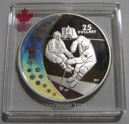Canada 25 Dollars 2007 Hockey - Vancouver 2010 KM-746 ( PROOF  )