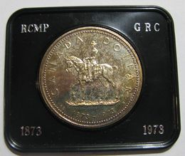 Canada 1 Dollar 1973 Royal Canadian Mounted Police KM-83 ( AUnc )