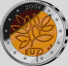 Finland 2 euro 2004cc EU Expansion ( UNC ) in case