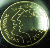 Finland 20 euro 2005 Gold 900/1000 1.73gr   World championships in athletics ( 00 PROOF )