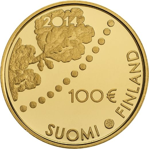 Finland 100 Euro 2004 KM#117 ( PROOF 00 ) 150th birthday of Albert Edelfelt