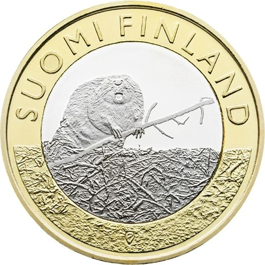 Finland 5 euro 2015 Animals of the Provinces – Satakunta - Beaver ( UNC )