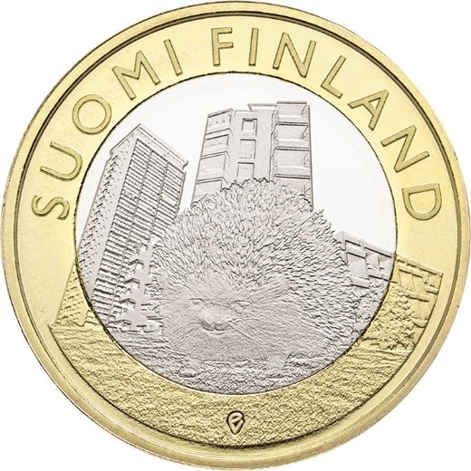 Finland 5 euro 2015 Animals of the Province - Uusimaa Hedgehog ( UNC )