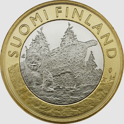 Finland 5 euro 2015 Animals of the Province Tavastia - Lynx ( UNC )