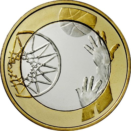 Finland 5 euro 2015 Sports Coins – Basketball ( UNC )