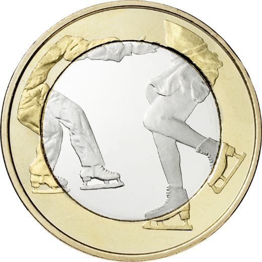 Finland 5 euro 2015 Sports Coins – Figure skating ( UNC )