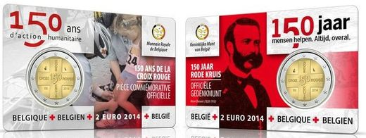 Belgium 2 euro 2014 Red Cross ( UNC ) In card