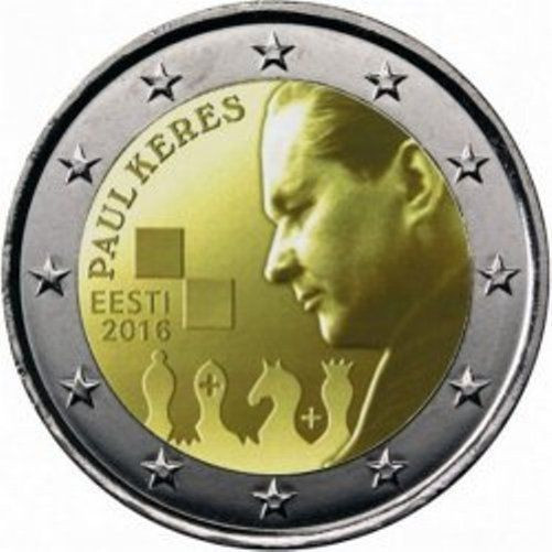 Estonia 2 euro 2016 Paul Keres ( UNC )