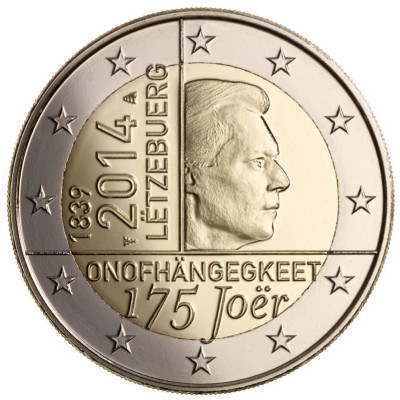 "Luxembourg 2 euro 2014 ""Independence"" ( UNC )"