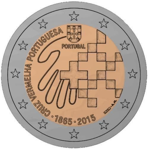 Portugal 2 euro 2015 ( UNC ) Red Cross
