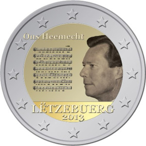 Luxembourg 2 euro 2013 National Anthem ( UNC )