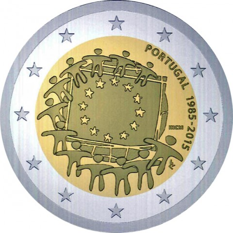 Portugal 2 euro 2015 European flag ( UNC )