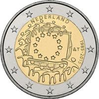 Nethertlands 2 euro 2015 European flag ( UNC )