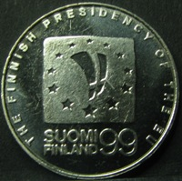 Rahapajan jetoni 1999  The Finnish Presidency of the EU ( UNC )