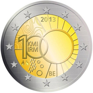 Belgium 2 euro 2013 Meteorological Institute 100v ( UNC )