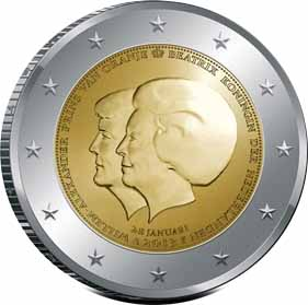 Netherlands 2 euro 2013 Double Portrait ( UNC )