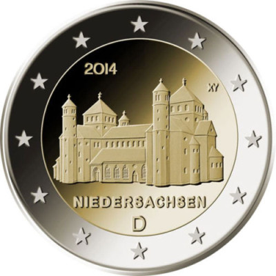 Germany 2 euro 2014 St. Michael's Church ( UNC )