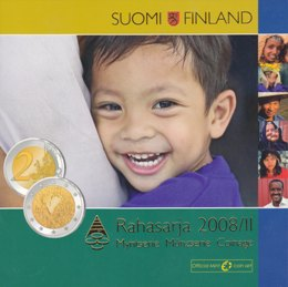 Finland Coin serie 2008 II ( BU ) Icl 2€ 2008 Human rights