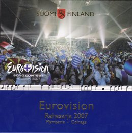 Finland Coin set 2007 ( BU ) Eurovision song contest 2007