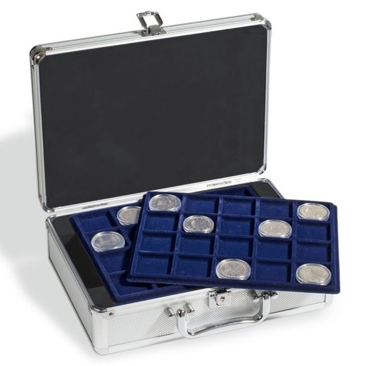 LEUCHTTURM Coin case for 144 2-Euro coins in capsules, incl. 6 coin trays