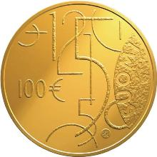 Finland 100 Euro 2010 ( PROOF ) Finnish currency 150 years Gold 5,65 gr 917/1000 Mintage:  7 000 Pcs