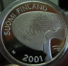 100 Markkaa 2001 ( PROOF ) In case