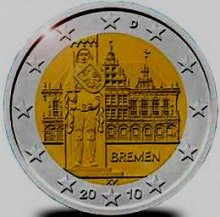 Germany 2 euro 2010 J Bremen ( UNC )