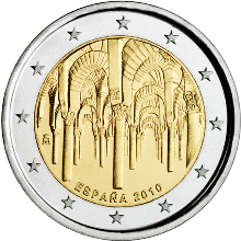 Spain 2 euro 2010cc Kathedral of Cordoba ( UNC )