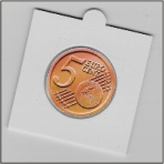 27,5 mm Coin Holders for stapling ( 25 pcs )