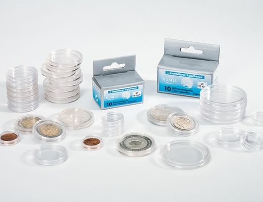 Leuchtturm Coin capsules 10pcs/packet ( 24.5mm ) CAPS 24.5