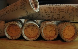 1 cent 2012 Mint of Finland coins roll